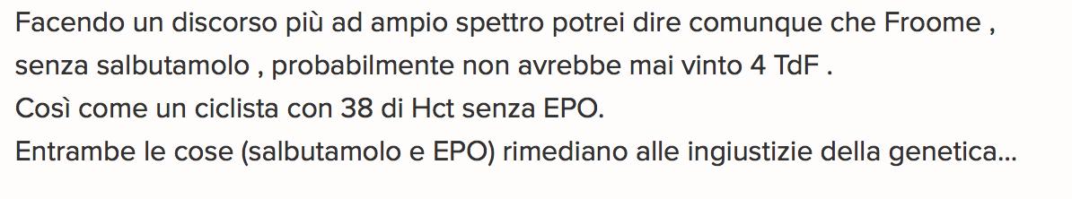 Michelle Ferrari vs Froome