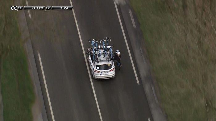 Ciclistas remolcados