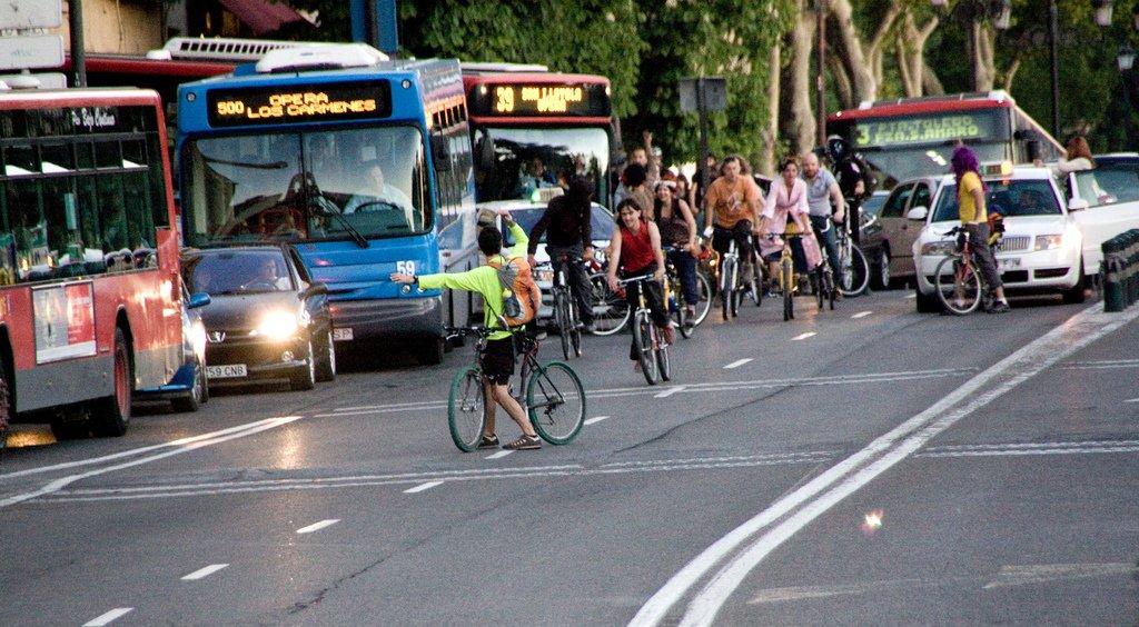 bici vs coche vs metro