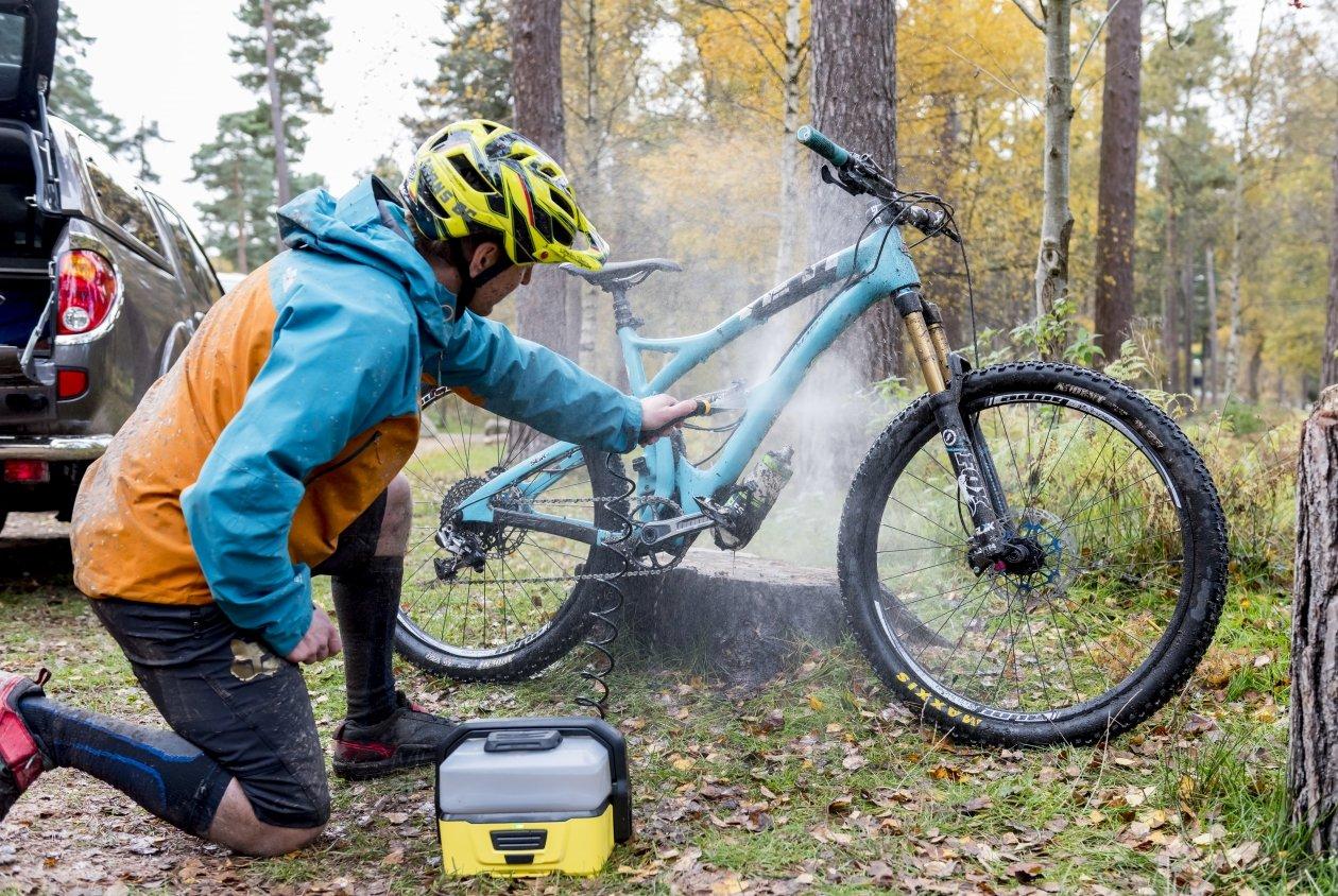 limpieza mountainbike