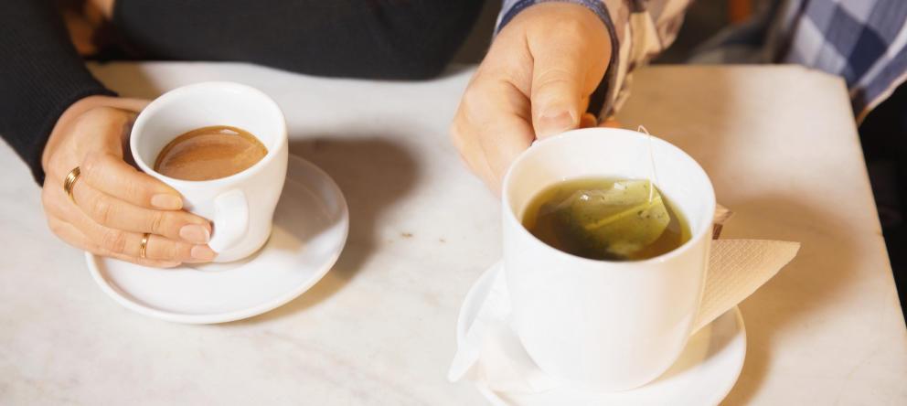 té, teína, café, cafeína