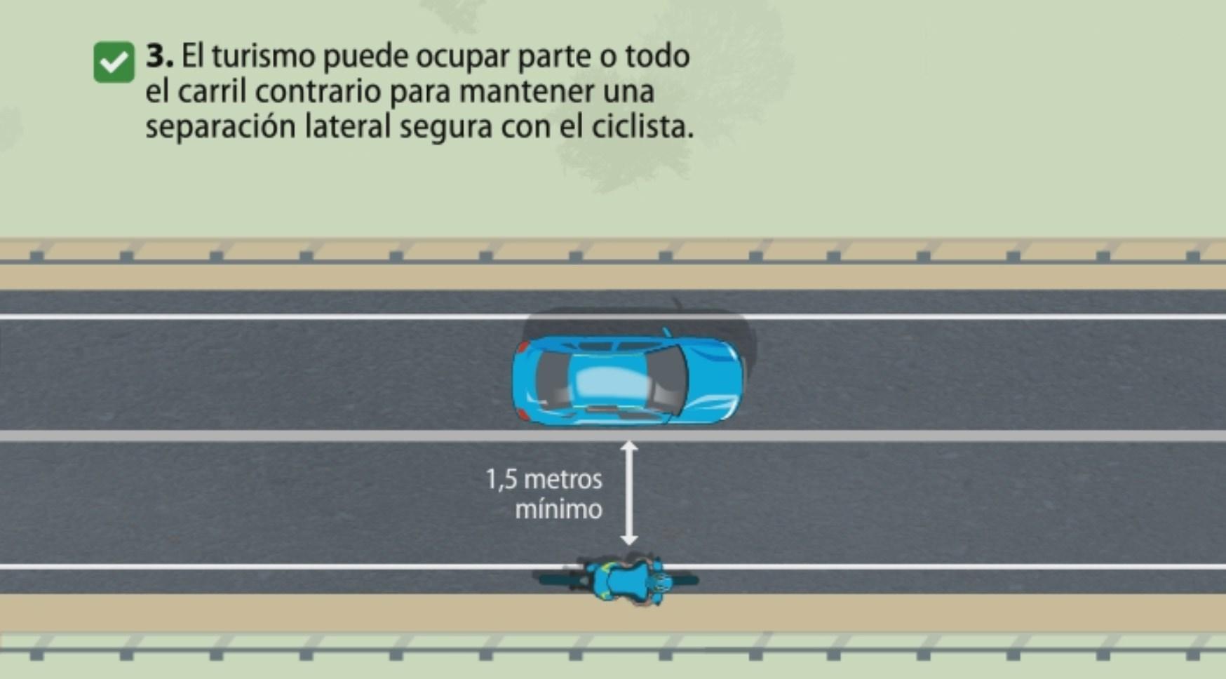 Como adelantar a un ciclista en la carretera