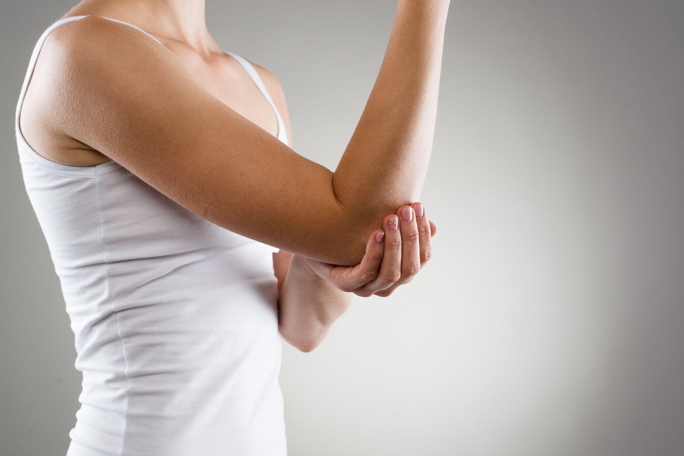 Del tenista dolor la codo en pierna de