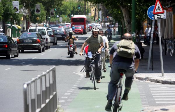 Ir por la ciudad en bici