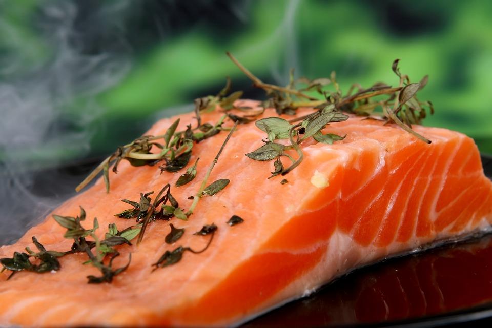 salmón fresco proteínas