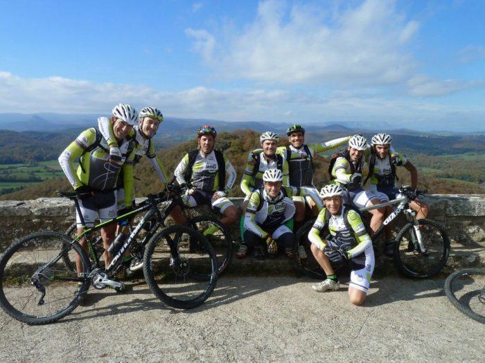 Quedada con amigos motivación ciclista