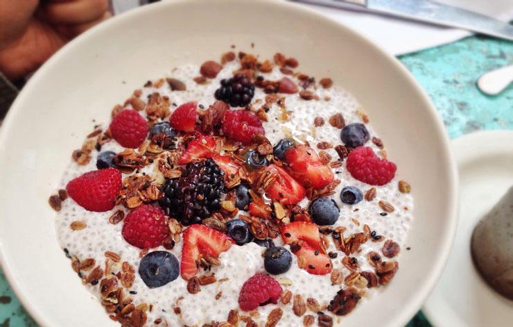 Desayunos Pudin semillas de chia