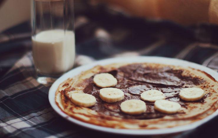 Panqueque banana desayunos