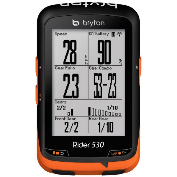 Bryton_Rider-530_low-cost-GPS-cycling-computer_Shimano-Di2-integration