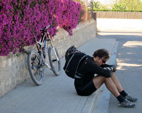 Náuseas sobre la bici