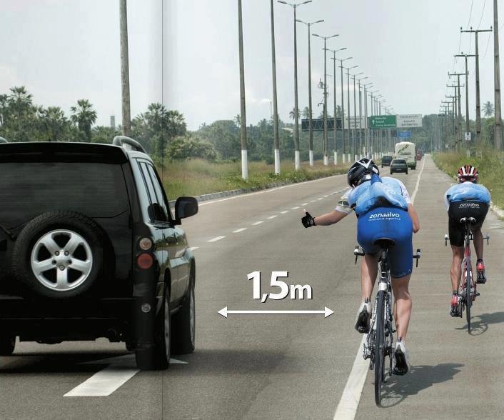 distancia seguridad ciclistas