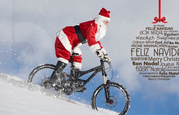 Brujúla Bike y este Santa Claus freerider os deseamos ¡FELIZ NAVIDAD!