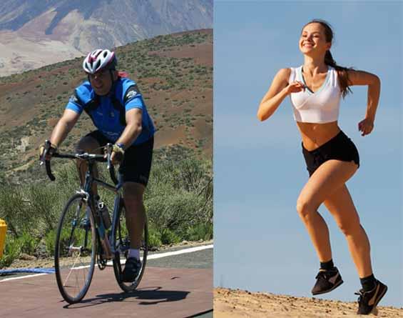 Adelgazar piernas con bicicleta