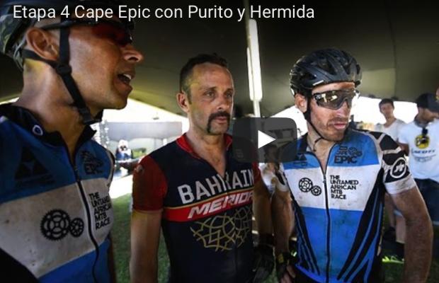 Purito y Hermida comentan la cuarta etapa de la Cape Epic con Ibon Zugasti