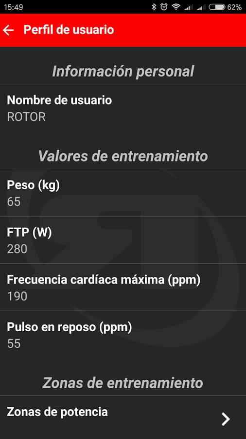 Rotor Power Perfil usuario