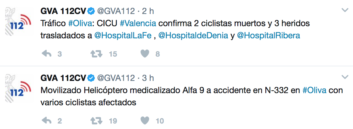 atropello ciclistas