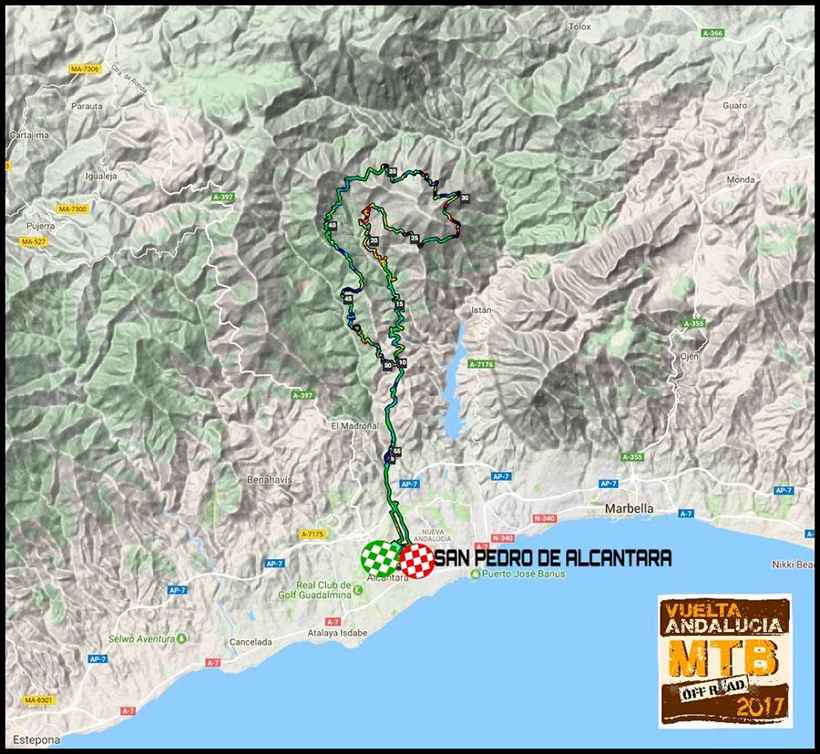 plano etapa 3 Vuelta Andalucía MTB 2017