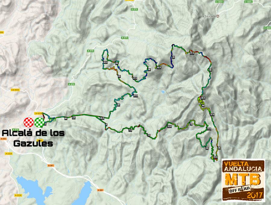 plano etapa 4 Vuelta Andalucía MTB 2017